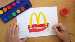 How To Draw A McDonalds Logo Drawing