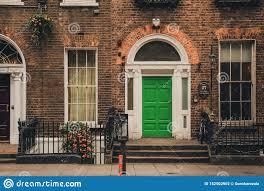 100 Dublin Street Traditional Irish House On Editorial