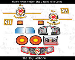 New Replacement Decals Stickers Fits Step2 Toddle Tune Coupe Fire ... Fire Engine Bedding Set Bedroom Toddler Bed Step 2 Corvette Z06 To Twin Kids Step2 Truck Red Plans Loft Curtain Firetruck High Sleeper Beds Childrens Kidkraft Power Wheels Cars Hello Kitty Suphero Tractor Replacement Parts Best Resource Fireman 795000 Sears Outlet Walmart Light Buggy All Home Ideas And Decor Little Diy