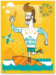 The Get Up Kids Concert Poster At Great American Music Hall San Francisco Apr 2009 Hand Made Silkscreen Print On Heavy Stock Measures 18 Inches