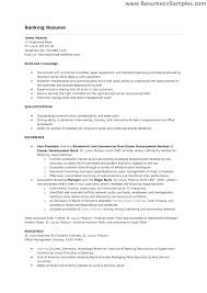 Resume Objectives For Banking Bank Samples Sample