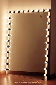 diy style mirror with lights tutorial from scratch for