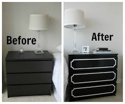 Black Dresser 3 Drawer by Bedroom Black Brown Malm Nightstand With 2 Drawers For Bedroom