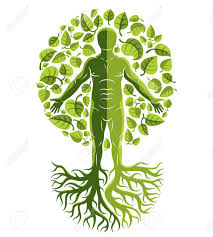 Vector Human Individuality Created With Tree Roots And Surrounded