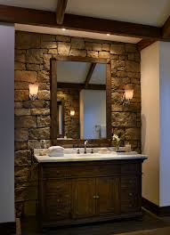 Rustic Bathtub Tile Surround by Rustic Stone Wall Bathroom Rustic Bathroom Stone Bathroom