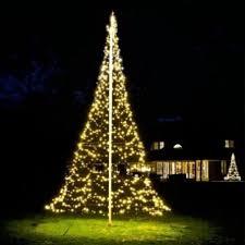 Rouge Living LED Fairy Bell Flag Pole Christmas Tree In 600cm