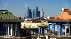 100 Apartments In Moscow Modern Apartments And City Skyscrappers Sunny Day