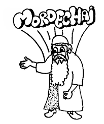 Purim Queen Esther Cousin Mordechai In Coloring Page