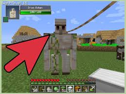 Best Pumpkin Seed Minecraft Pe by How To Make An Iron Golem In Minecraft 8 Steps With Pictures