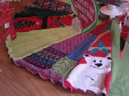 Tree Skirt From A Recycled Sweater Via Inhabitots