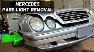 mercedes w208 w210 park light bulb removal replacement