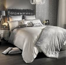 Kylie Minogue at Home Glitter Fade Silver Ombre Sequins Duvet Cover