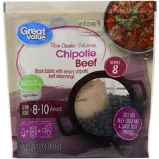 Chipotle Halloween Special Hours by Great Value Slow Cooker Solutions Chipotle Beef Beans 11 75 Oz