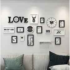 bilderrahmen collage luxus foto wand wohnzimmer wandbilder