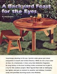 round picnic table plans u2022 woodarchivist