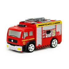 1 Create Toys Shenqiwei 8027 1/58 Mini Tank Truck/Ladder Truck Fire ...