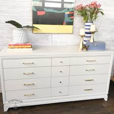 Kent Coffey French Provincial Dresser by White Modern Dresser With Gold Hardware Vintage Refined