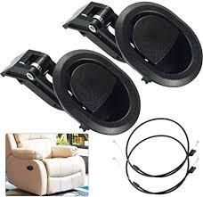 buzifu 2 stück replacement recliner handle ersatzteile für liege kunststoff ziehen liege griff schmale ovale schwarze plastikgriffe entriegelungshebel