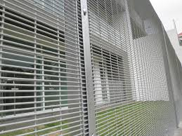 The Drawing Of Anti Climb Fence Installation Including Steel C Series D Series Steel Mesh