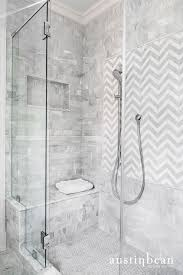 white and gray cement shower tiles transitional bathroom