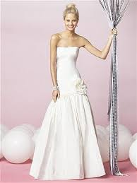 Trumpet Mermaid Strapless Sweep Brush Train In Taffeta Wedding Dress