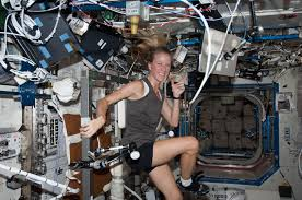 Exercising Is A Part Of The Daily Routine Aboard International Space Station As Demonstrated Here By ISS Crew Member Karen Nyberg Credit NASA