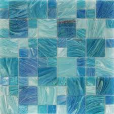 shop for aquatic sky blue pattern glass tiles at tilebar