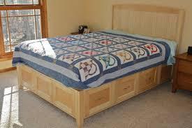 maple platform bed with hidden storage by hozer lumberjocks