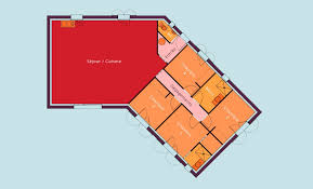 plan de maison en v plain pied 4 chambres estimate building plan single storey 4 bedroom v shaped detached