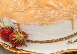 erdbeer quark torte mit karamell no bake