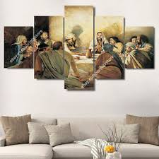 Image Is Loading Jesus Christ Amp Apostles Painting Wall Art Canvas