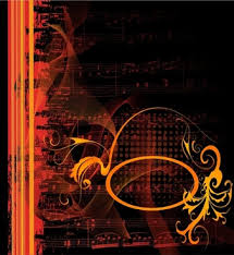 Gorgeous Classical Music Background Vector Illustration
