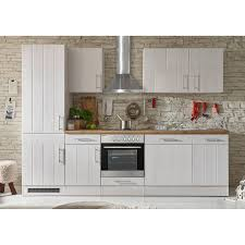 respekta premium küchenzeile landhaus 280 cm lärche weiß matt