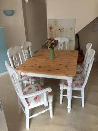 100 Dining Chairs Country English Style Pine Extendable Table 6 In Thetford Norfolk