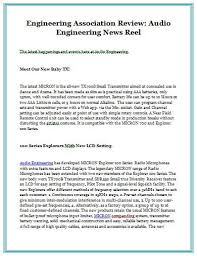 Engineering Association Review Audio News Reel