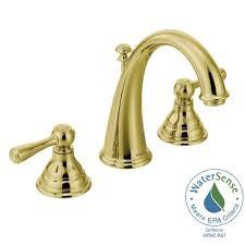 Moen Bathroom Sink Faucets Brass by Moen Kingsley 8 In Widespread 2 Handle High Arc Bathroom Faucet