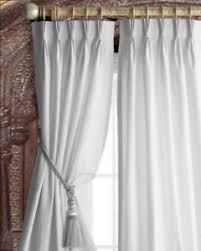 Pure Luxury Linen Pinch Pleat Lined Window Panel Set of 2 NEW