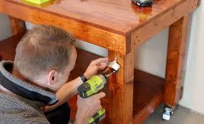 Simple Workbench Diy Woodworking Bench Work