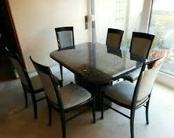 design esszimmer tisch 6 stühle marmortisch holzstühle