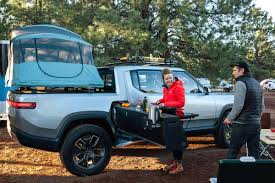 100 Camper Truck Bed Rivian Unveils Camper Version Of Its R1T Electric Pickup