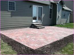 Idea Brick Paver Patio Cost For Here Is Our Repaired Patio 36