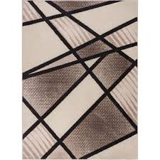 100 Art Deco Shape Well Woven Mystic Broadway Brown 8 Ft X 10 Ft Bold S Lines