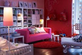 ikea living room design ideas 2013 red pink sofa library living