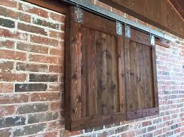 Barn Door Style Outdoor TV Cabinet