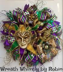 Burlap Mardi Gras Door Decorations by Mardi Gras Jester Mask Wreath Mardi Gras Beads By Wreathsbyrobin