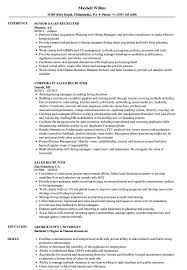 Download Sales Recruiter Resume Sample As Image File