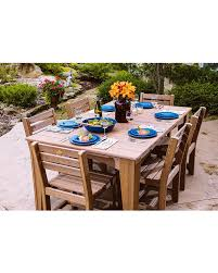 Island Dining Table Set 44in X 72in Top With 6 Side Chairs Square High Density Polyethylene