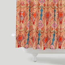Capital A fresh start shower curtains bright & bold