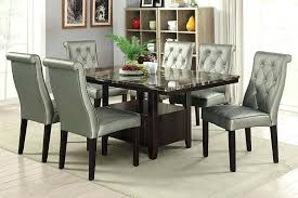 Dining Table Pictures 7 Collection Espresso Finish Wood Faux Marble Top Set With Glass