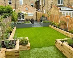 Backyard Design Ideas Garden Sleepers Raised Beds Edging